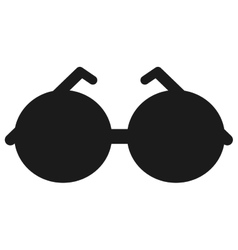 round frame sunglasses icon vector image