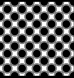 seamless black and white circle pattern vector image