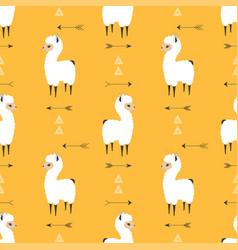 seamless pattern llama vector image