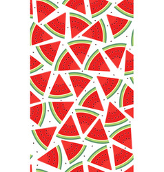 seamless pattern with watermelons slice of vector image