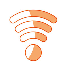 Silhouette wifi symbol icon design vector