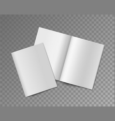 soft cover books opened and closed empty vector image