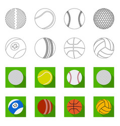 sport and ball logo set of vector image