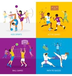Sport Games Concept vector image