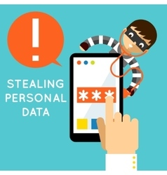 Stealing personal data vector image