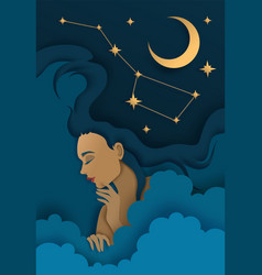 sweet dreams in paper art vector image