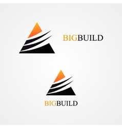 Triangle design logo vector image
