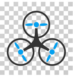 Tricopter drone icon vector