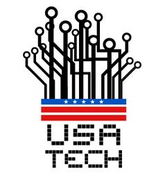 USA tech symbol vector