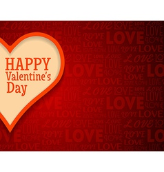 Valentines Day Greetings Card Background with Big vector image