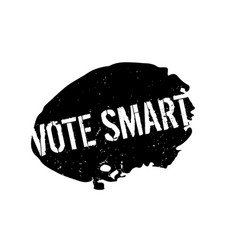 Vote smart rubber stamp vector