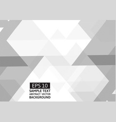 white and gray polygon abstract background with vector image