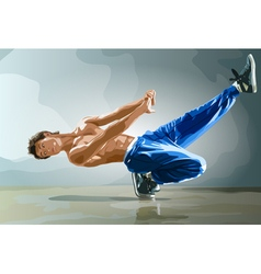 Young man break dance vector image