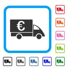 euro collector car framed icon vector image vector image