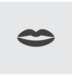 Lips icon vector image