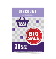 poster with red sticker sale vector image