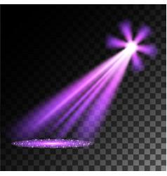 purple spotlights vector image vector image