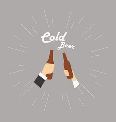two hands with cold vector image vector image