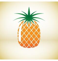 Pineapple symbol vector image