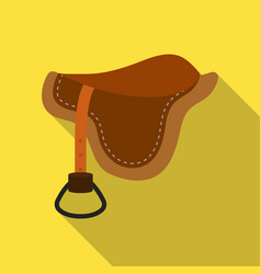 Saddle icon in flat style isolated on white vector