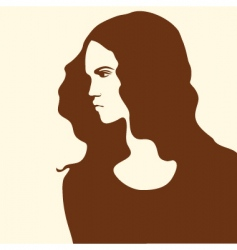 beautiful woman with long hair vector image vector image
