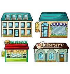 cartoon Shops set vector image vector image