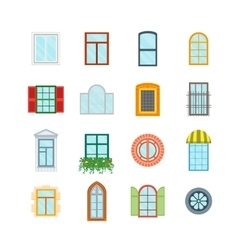 Cartoon Windows Set vector image vector image