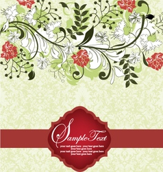 floral background invitation card vector image vector image