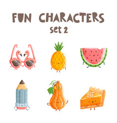 Fun characters set 2 vector