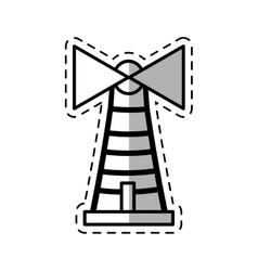 lighthouse building sea shadow vector image