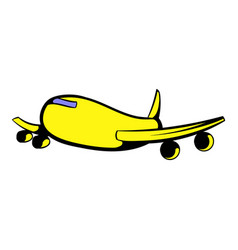 passenger airliner icon icon cartoon vector image