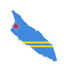 aruba flag and map vector image
