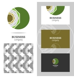 Business abstract logo icon for company Graphic vector image vector image