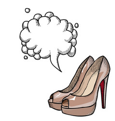 high heeled shoes-100 vector image