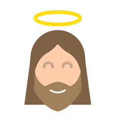Jesus flat icon easter and holiday christ sign vector