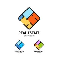 Sign Real Estate Set Plan Floor vector image