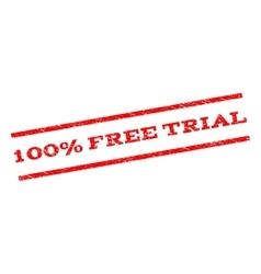 100 percent free trial watermark stamp vector