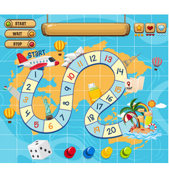 A board game template vector