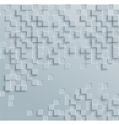 Abstract geometric shape from gray cubes white vector
