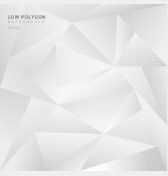 Abstract low polygon white background geometric vector