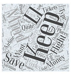 Airline Tickets And Theme Parks Word Cloud Concept vector image