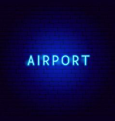Airport neon text vector