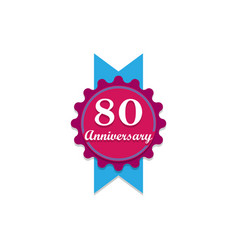 anniversary 80 years multicolored icon can be vector image