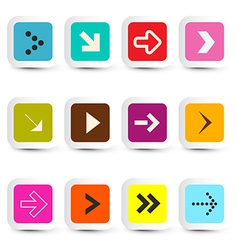 Application Icons - Arrows in Paper Cut Squares vector image