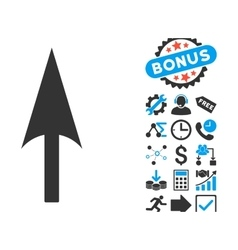 Arrow Axis Y Flat Icon with Bonus vector image