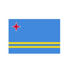aruba flag vector image