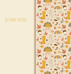 Autumn objects Seasonal texture Use as a greeting vector image