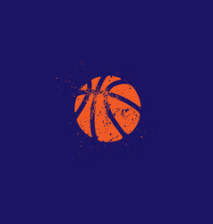 Basketball grunge silhouette vector