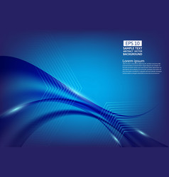 blue color waves abstract background design vector image