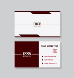 Business model name card luxury modern black vector